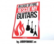 Nálepka In Case Of Fire Save My Guitars