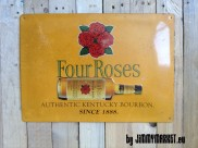 Plechová tabula FOUR ROSES - Authentic Kentucky Bourbon - Since 1888 - SKLADOM