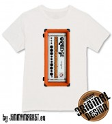 Pánske Tričko Orange Amp Head Full White