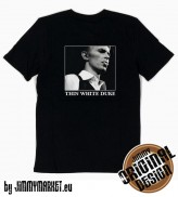 Tričko David Bowie Thin White Duke Black - SKLADOM JIMMYMARKET SENICA