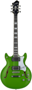 SKLADOM JIMMY MARKET SENICA HAGSTROM E-Guitar, Alvar Ltd, Stallion Green Metallic