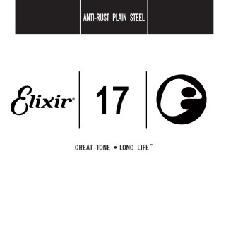 Elixir Anti-Rust Plain Steel Single Guitar Strings 13017 17