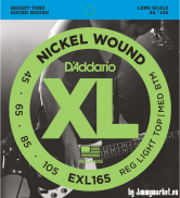 EXL165 Nickel Wound Bass, Custom Light, 45-105, Long Scale
