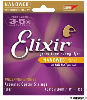 16027 Elixir Acoustic NANOWEB Phosphor Bronze Custom Light-SKLADOM JIMMYMARKET SENICA