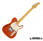 G&L Tribute ASAT Classic Bluesboy Semi-Hollow Clear Orange