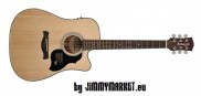 Richwood D-40-CE Dreadnought Cutaway Master Series Natural - JIMMYMARKET Professional Music Store