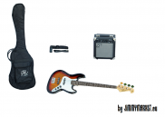JIMMYMARKET Jazz Bass Set SX SB1 3 Tone Sunburst