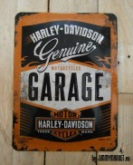 Zberateľská Retro Ceduľka HARLEY DAVIDSON GENUINE MOTORCYCLE GARAGE Since 1903