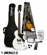 Epiphone PRO-1 Les Paul Jr. Gitarový Set Alpine White