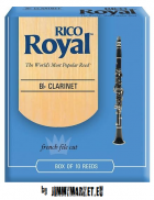 Plátok pre klarinet Rico Royal 2.5 Bb clarinet