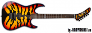 ESP LTD Signature GL-200 SBT Sunburst Tiger Graphic George Lynch