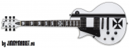 ESP LTD Signature Iron Cross SW Snow White James Hetfield Ľavoruká