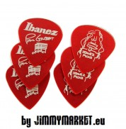 Set 6KS Trsátok Ibanez 1000PG-CA Paul Gilbert Pick Set of 6 Red