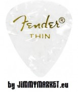 Trsátko Fender 351 Shape Premium Pick Thin White Moto
