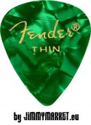 Trsátko Fender 351 Shape Premium Pick Thin Green Moto