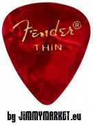 Trsátko Fender 351 Shape Premium Pick Thin Red Moto