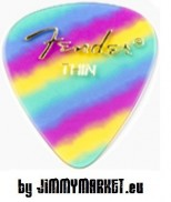 Set 12KS Trsátiek Fender 351 Shape Premium Picks Thin Rainbow 12 Count