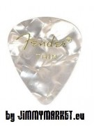 Set 12KS Trsátiek Fender Shape Premium Picks White Thin