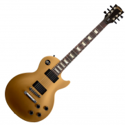 Gibson LPJ Rubbed Gold Top Dark Back Satin